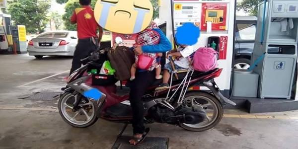 Kisah Sebenar Wanita Bawa Motor Dari Penang Ke Kajang, Semata-Mata Kerana Anak