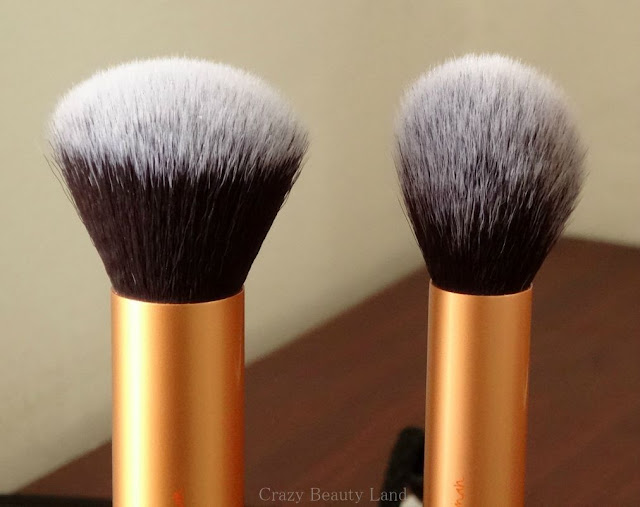Makeup Tools Review : Real Techniques by Sam & Nic Chapman Core Collection Set -Buffing Brush Contour Brush Review