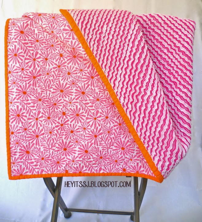 Front and Back of Faux Chenille Baby Blanket
