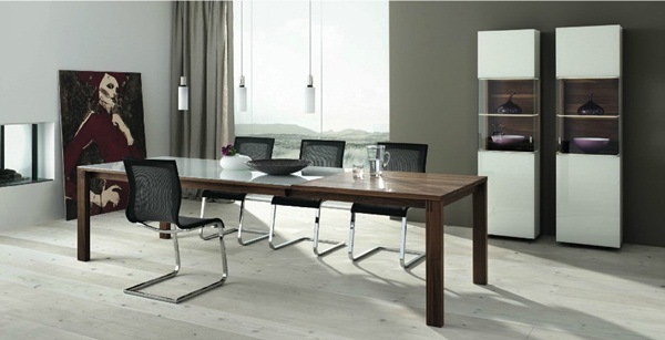 Contemporary dining room layout