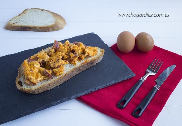 Huevos revueltos con chorizo en la chef o matic pro - Recetas cocina chef matic pro ...