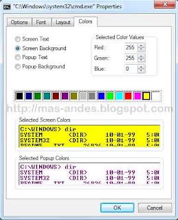 Merubah Warna Tampilan Command Prompt (CMD)