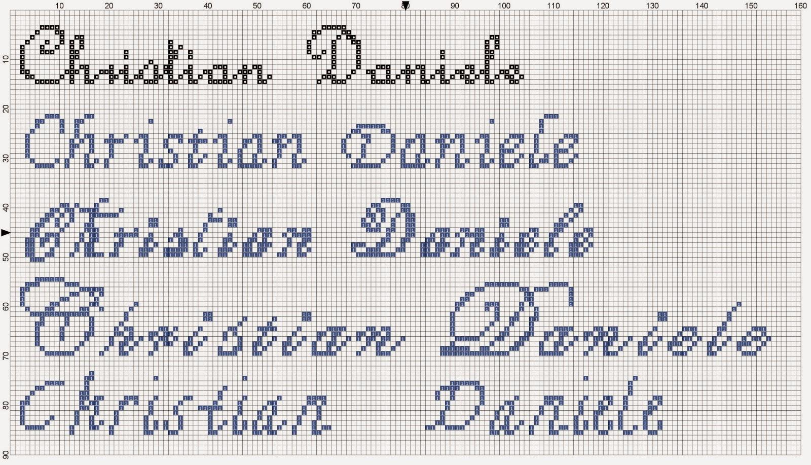 Kionkiori punto croce nomi random e arretrati vari for Nomi in corsivo gallery