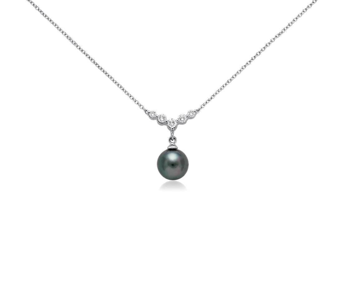 Kari likelikes black pearl diamond necklace black pearl diamond necklace aloadofball Gallery