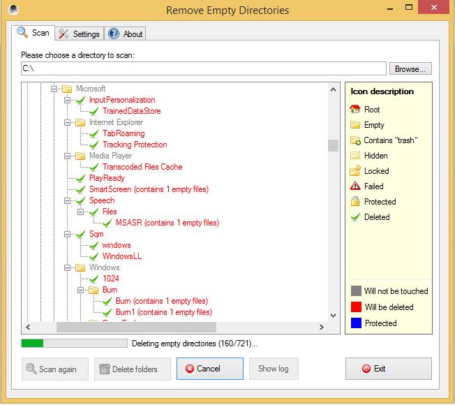كيفية حذف الملفات الفارغة و تسريع الكمبيوتر - برنامج remove Empty Directories