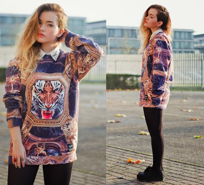 Breaking Rocks Tiger Throne Sweater