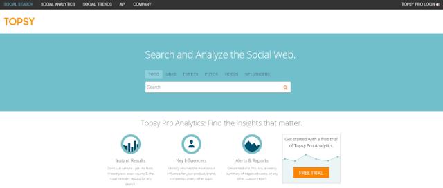 Topsy (Buscador de los tweets más populares por formato y lenguage; y otras herramientas de tendencias en Twitter)