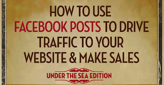 How To Use Facebook Posts To Drive Traffic To Your Website And Make Sales [infographic]