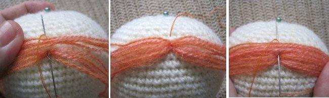 Make Amigurumi Hair Tutorial : Tutorial to make Hair for an Amigurumi Doll - Sayjai ...