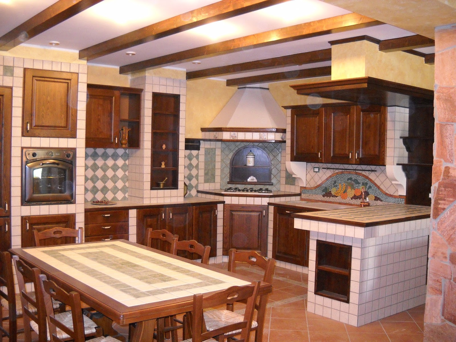 Arredamenti Gargante: Cucina In Finta Muratura Di Nostra Produzione. #A26229 1600 1200 Foto Di Cucine Ikea