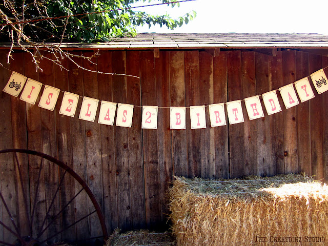 party, farm, tractor, princess, tractor banner