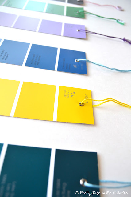 paper crafts for decor and gifts: a paint chip craze!