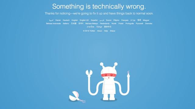 Twitter ficou offline para alguns