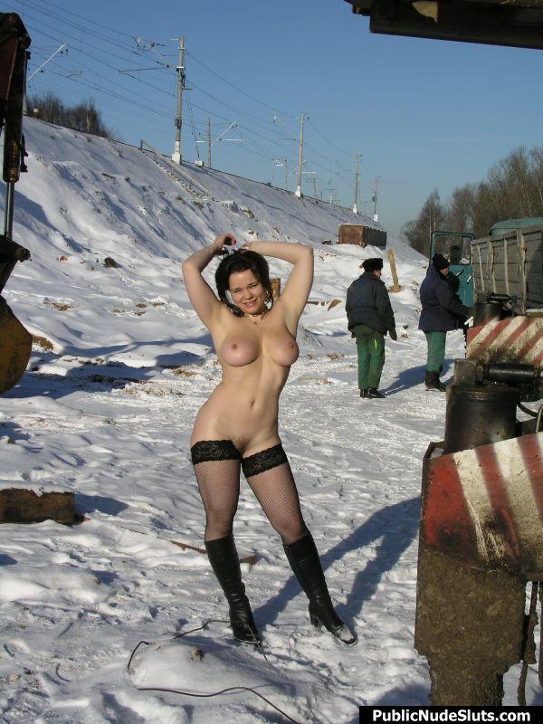 Alisa public nude slut