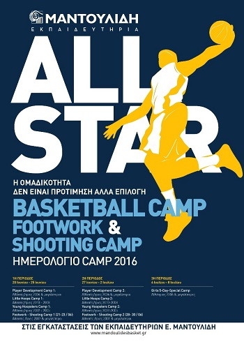 All Star Basketball, Footwork & Shooting Camp από τον Μαντουλίδη