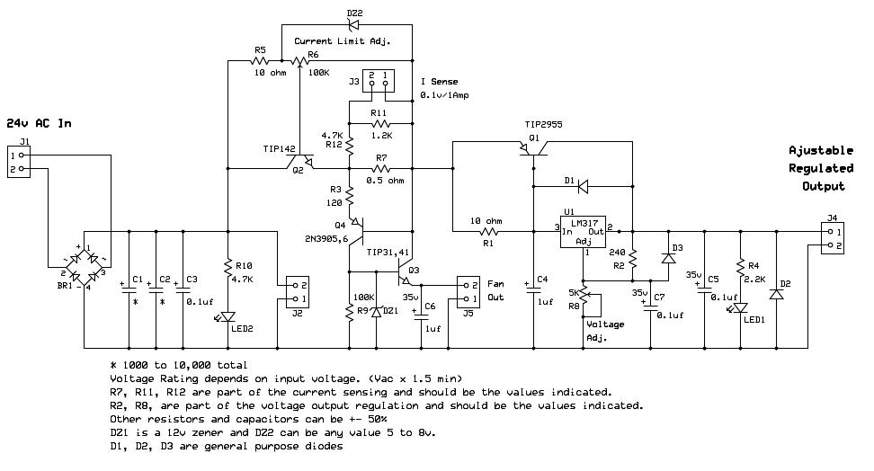 Electronics Circuit Application Variable Voltage