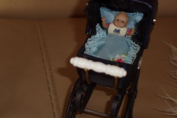 My baby boy in his new pram.