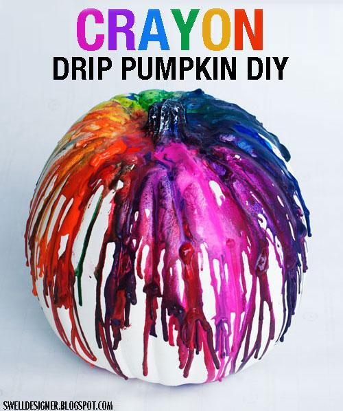 Crayon drip art pumpkin tutorial solutioingenieria Image collections
