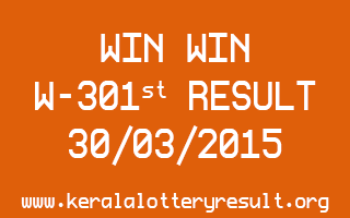 WIN WIN W 301 Lottery Result 30-3-2015