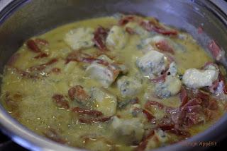 makaron z szynką parmeńską
