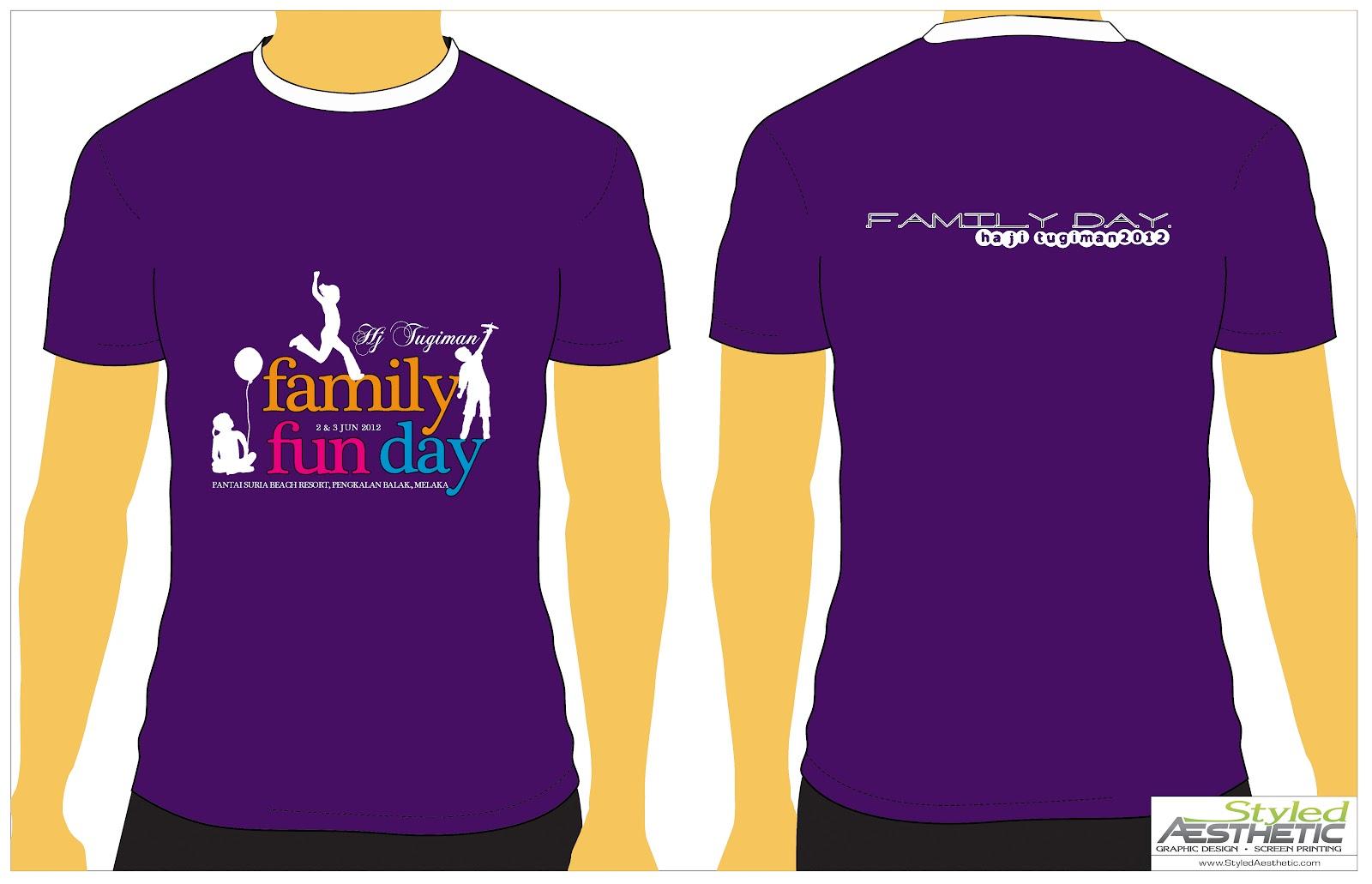Design T Shirt Family Day
