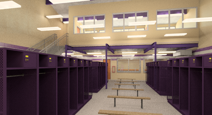 HMS Architects The Hahnville High School Field House is