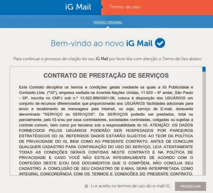 Dica para fazer email de graça no iG simples