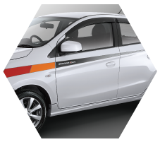Sporty Stripes Mitsubishi Mirage Jambi