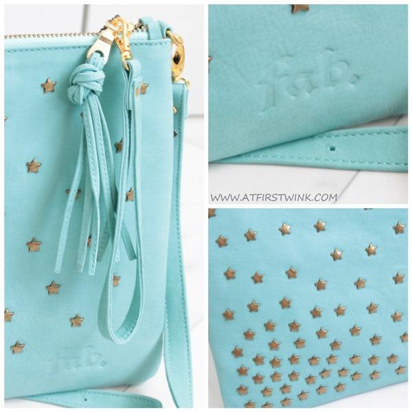 Fab. Suzy bag star stud - aqua details