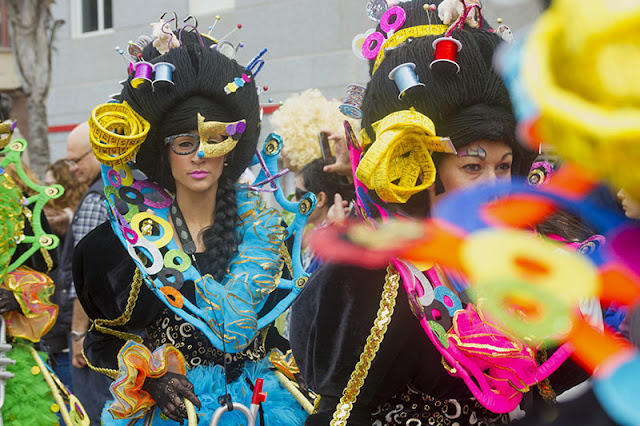 Fantastic costumes at the Carnvaval al Sol in Las Palmas Gran Canaria