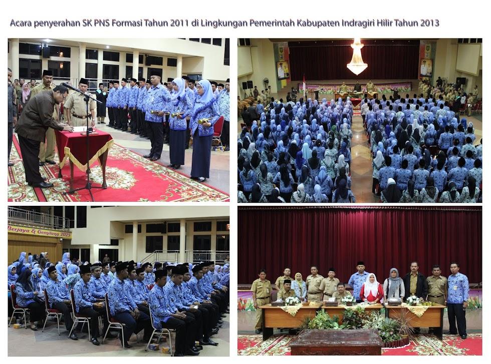Penyerahan SK PNS Formasi Tahun 2011