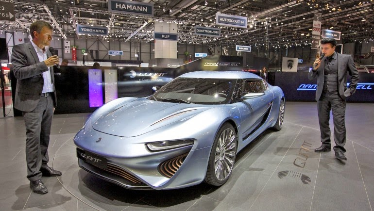 Salt water-powered Quant e-Sportlimousine nanoFLOWCELL car