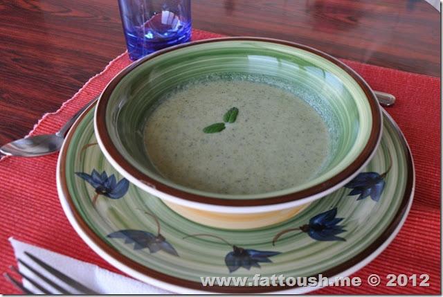 وصفة شوربة البروكلي من www.fattoush.me