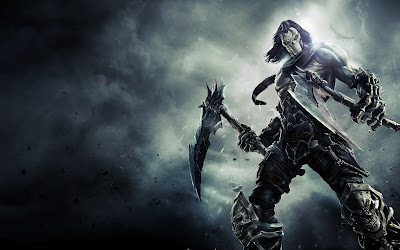 Darksiders 2 Horseman Skull Axes HD Desktop Wallpaper