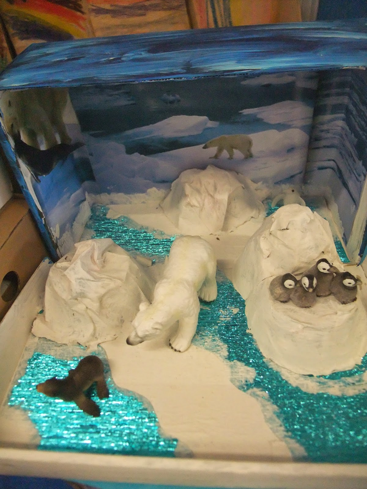 Arctic wolf diorama - photo#28