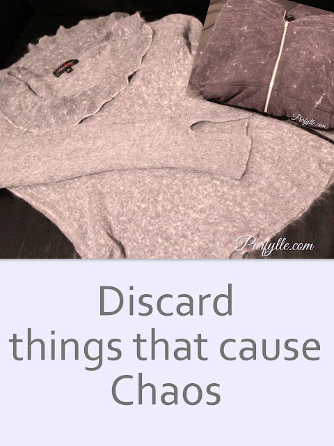 Resolve to discard anything that causes chaos in your life