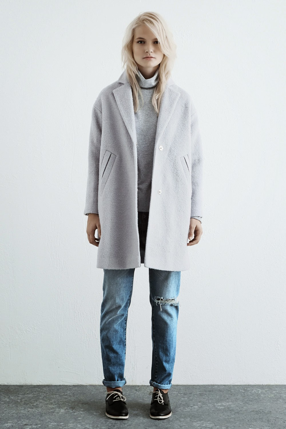 warehouse blue winter coat