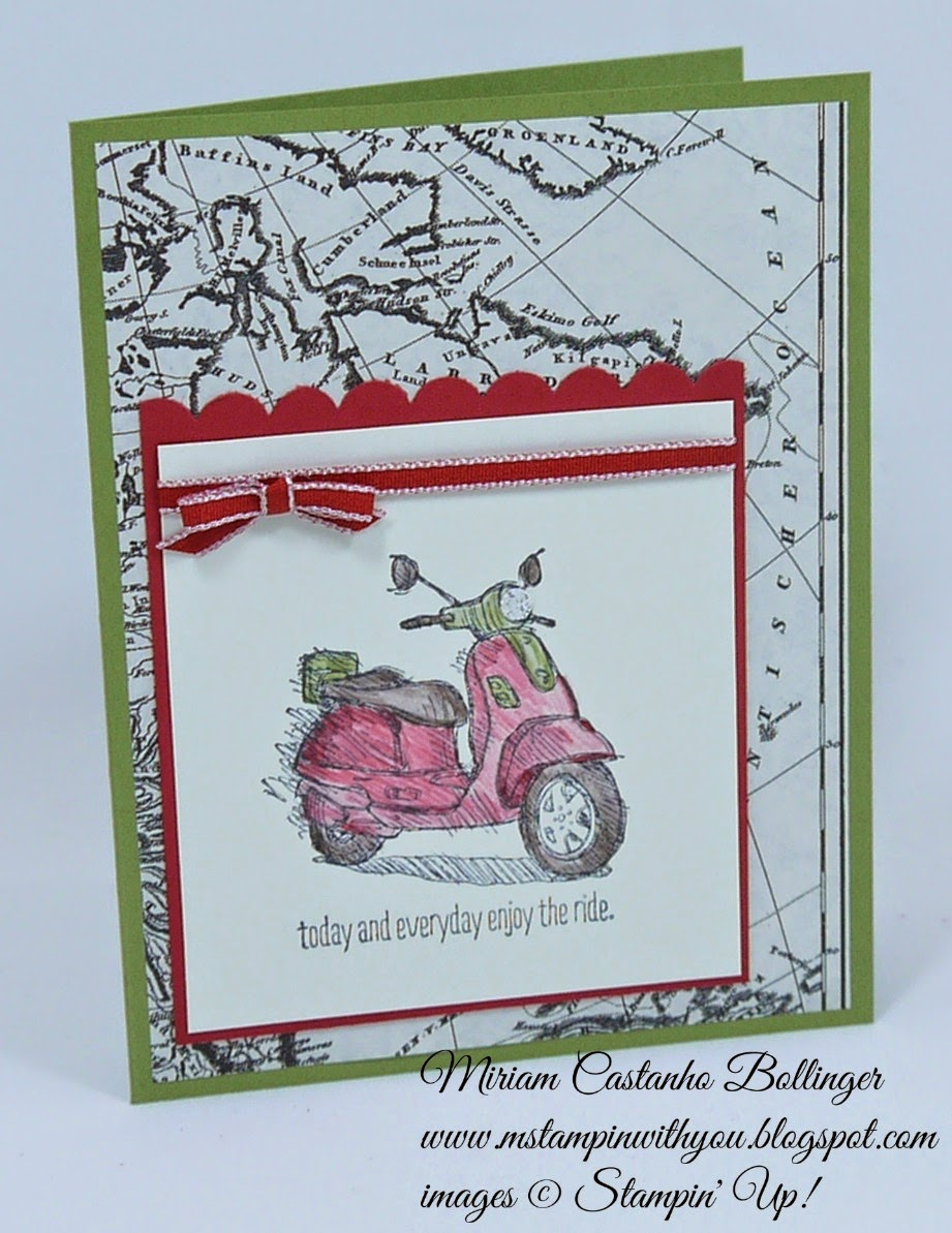 Miriam Castanho Bollinger, mstampinwithyou, stampin up, demonstrator, dsc 111, typeset specialty DSP, today & everyday stamp set, scalloped edge border punch, su