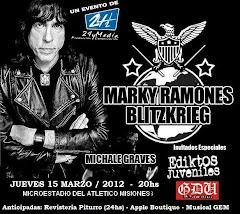 MARKY RAMONE EN POSADAS!! JUE 15 DE MARZO 2012 - 20hs