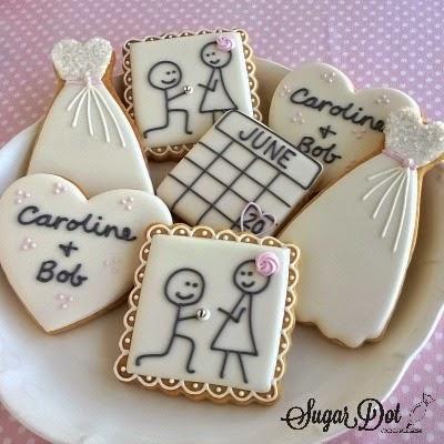 Sugar Dot Cookies: Engagement Sugar Cookies