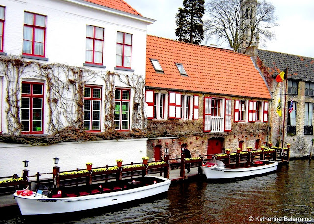 Capture the Colour Red - Bruges Canal
