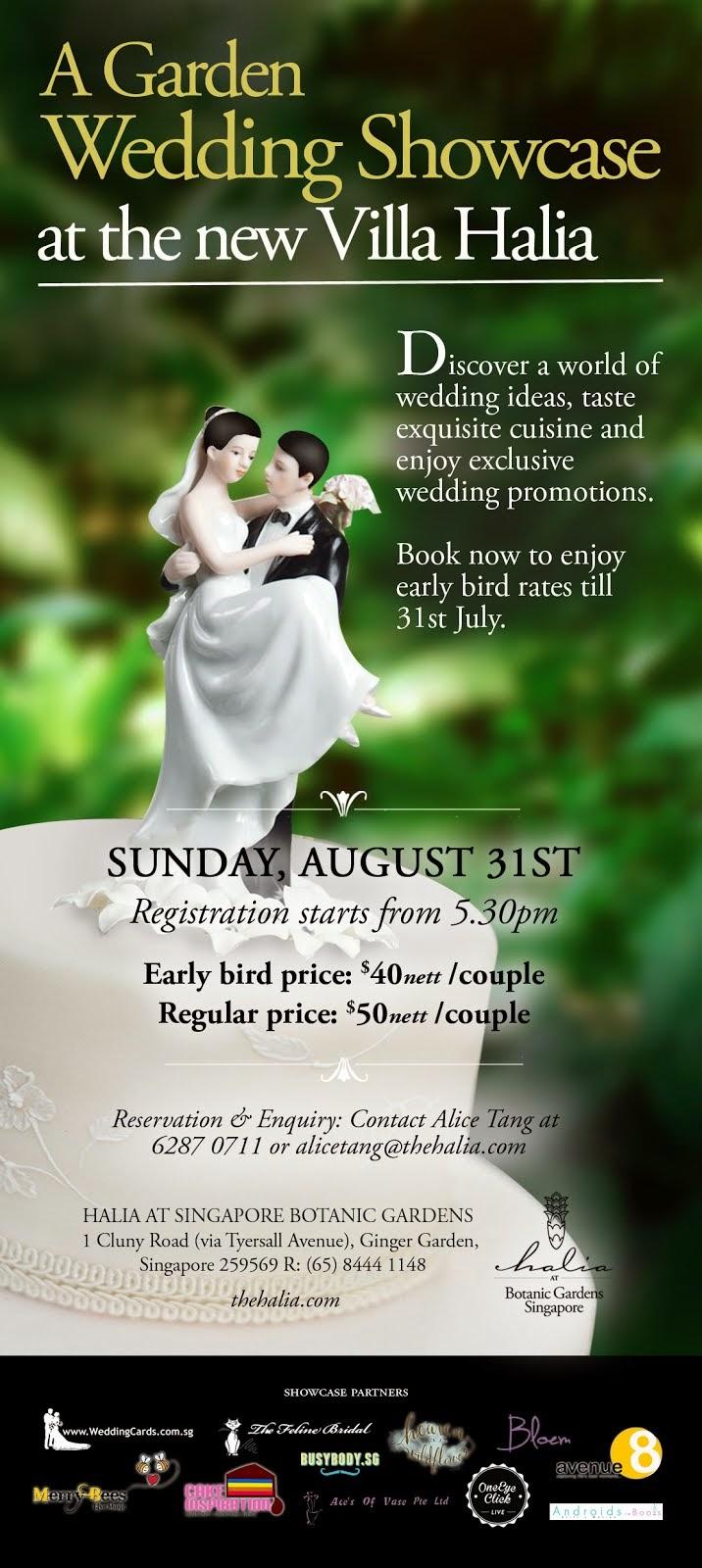Halia @ Ginger Garden , Botanic Gardens @ 31st Aug , 5pm