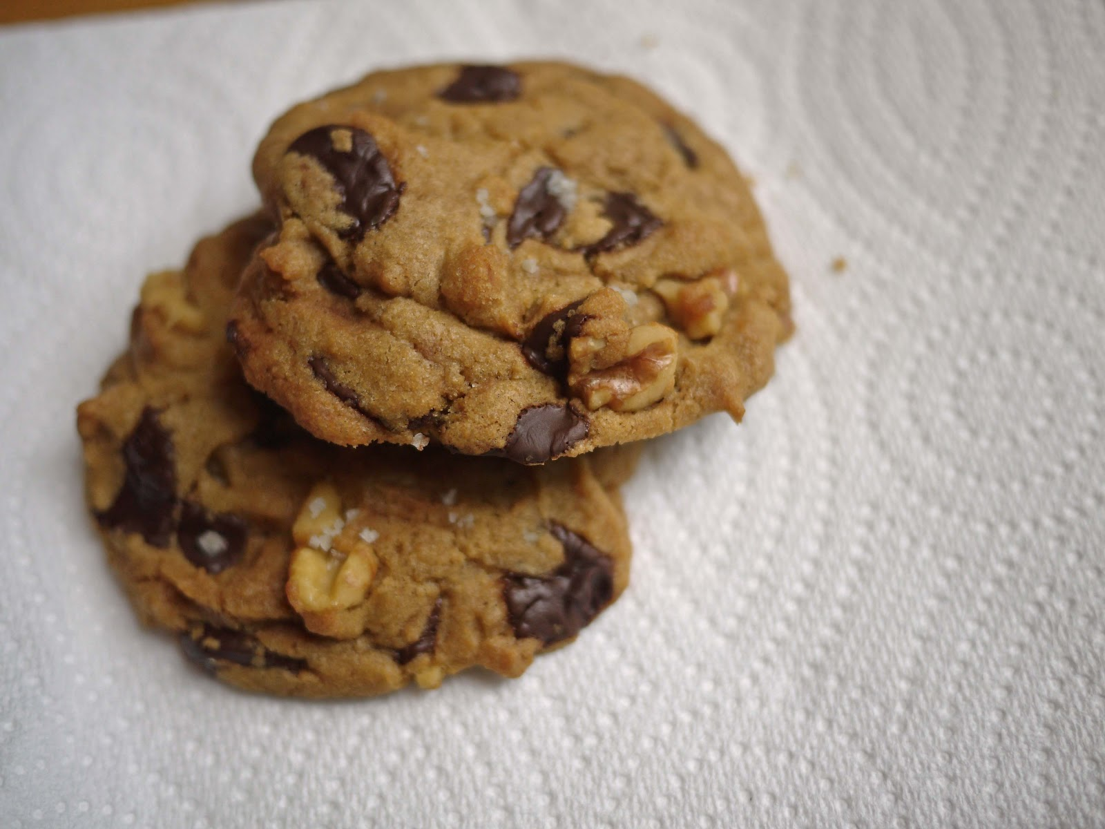 Common Scents Baking: Chocolate Chip Walnut Cookies with Sea Salt
