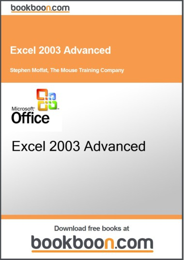 Free Learn Ms Excel 2003 Tutorial Advance ~ Online Training Software