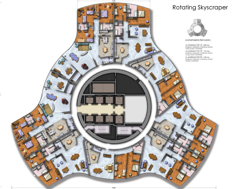 Rotating Tower Dubai Uae Live Love Learn Lift