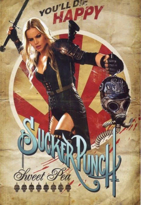 Retro Sucker Punch Sweet Pea - Posters Retro de Sucker Punch
