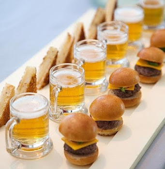 Sliders and Mini Beer
