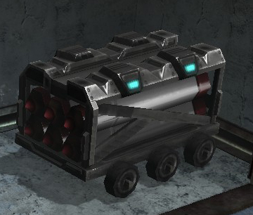 Small Damaged Munitions Cart