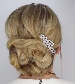 Soft Twisted Updo Hairstyle Tutorial