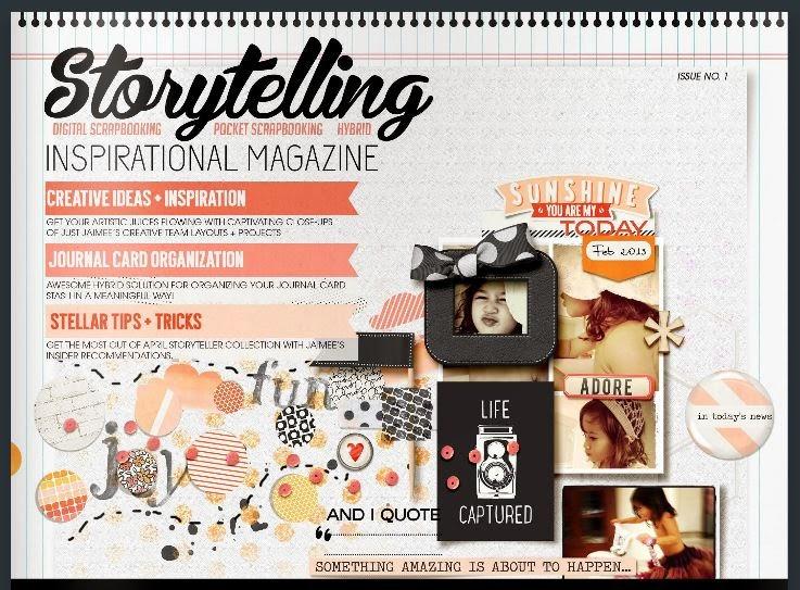 Storyteller Inspirational Magazine by Just Jamiee via Carrie Arick- digiscrapgeek.blogspot.com
